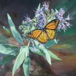 Viceroy Butterfly Painting by Amy Bartlett Wright