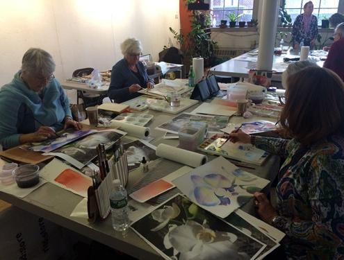 Marla Greenfield Watercolor Worksop Attendees