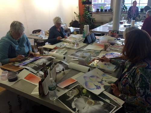 Marla Greenfield Watercolor Worksop Attendees