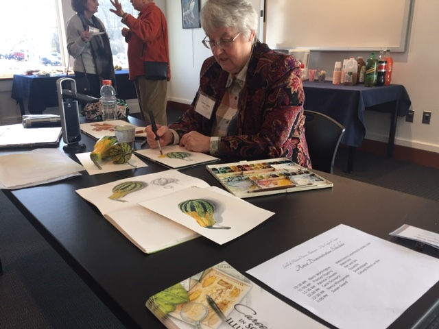 Frances Topping watercolor demonstration
