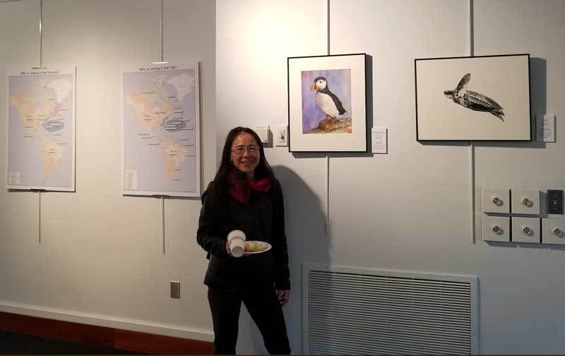 Sau-Mei Leung and her Atlantic Puffin