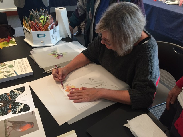 Susan Sward colored pencil demonstration