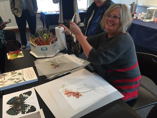 Susan Sward during her colored pencil demonstration