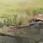 Watercolor sketch by Susan Stranz from Long Pasture