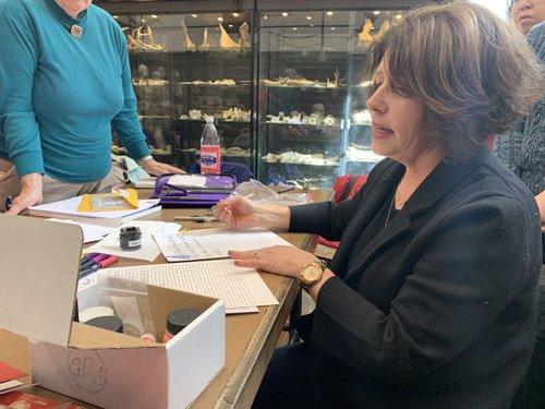 Wendy Berube calligraphy demonstration