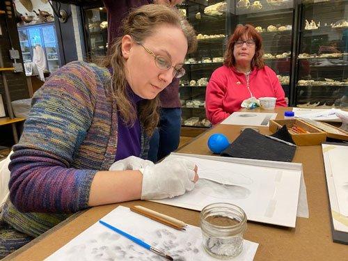 Wendy Chadbourne carbon dust demonstration